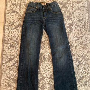 Boys gently used dark washed wrangler jeans